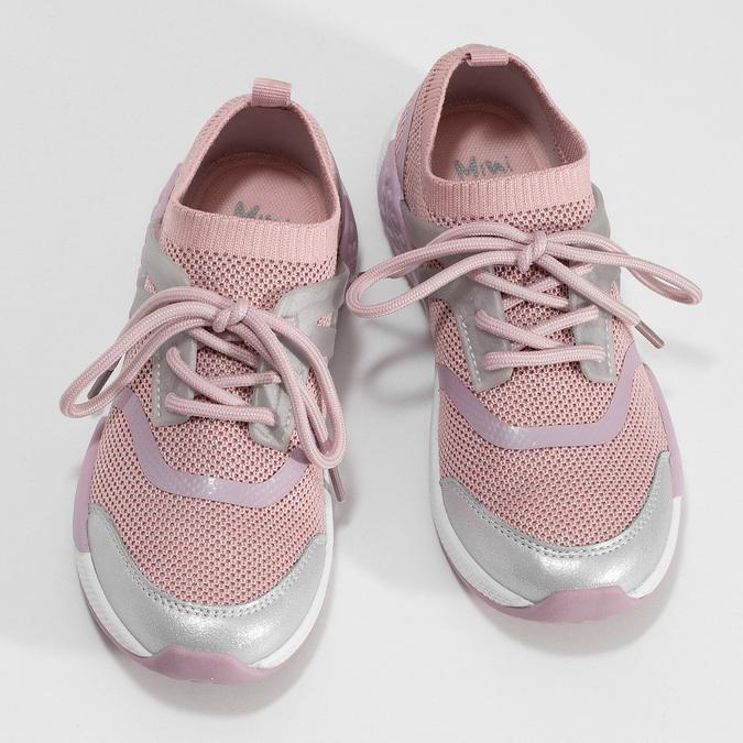Růžové dětské tenisky v pleteném designu mini-b, růžová, 329-5282 - 16