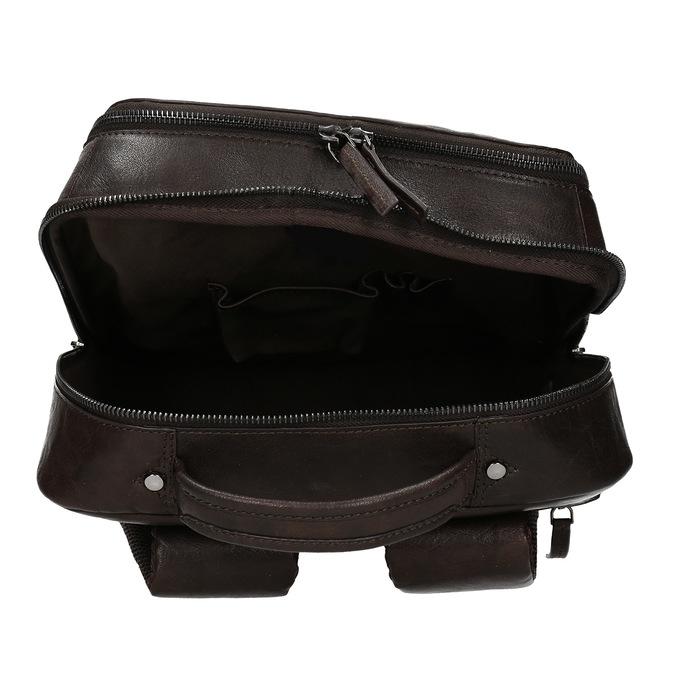 Hnědý kožený pánský batoh bata, hnědá, 964-4328 - 15