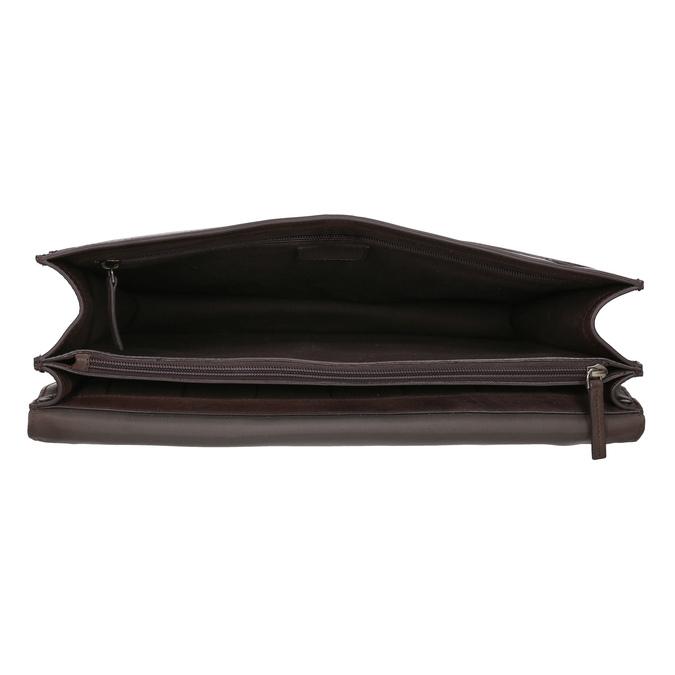 Hnědá pánská kožená aktovka bata, hnědá, 964-4613 - 15