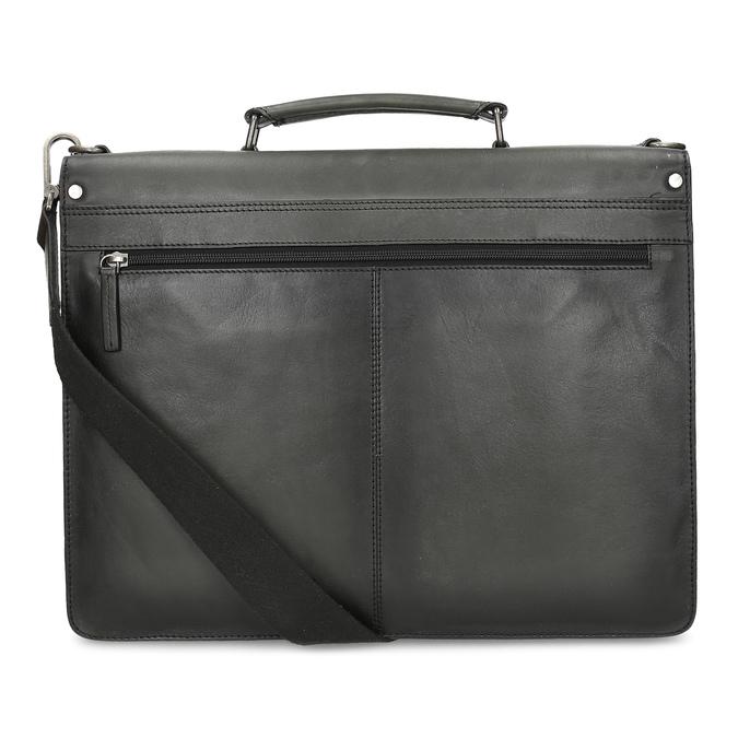 Pánská šedá kožená aktovka bata, šedá, 964-2613 - 16
