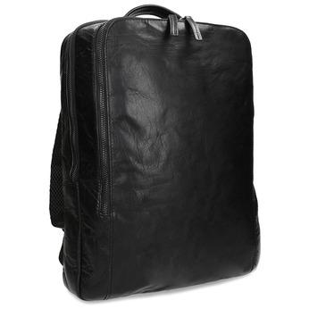 Černý kožený pánský batoh bata, černá, 964-6328 - 13