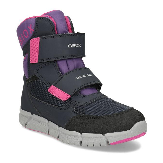 Dětská zimní obuv s růžovými detaily geox, modrá, 399-9314 - 13
