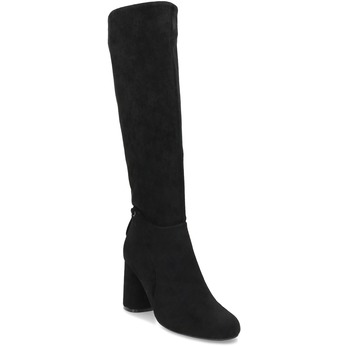 Černé dámské kozačky na stabilním podpatku bata, černá, 699-6607 - 13