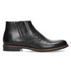 Pánská černá kožená kotníčková obuv conhpol, černá, 894-6602 - 19