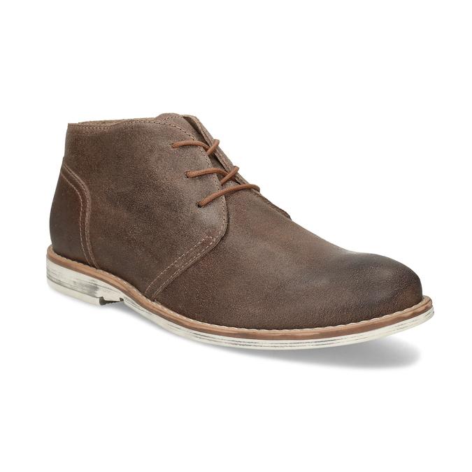 Hnědá pánská kožená kotníčková obuv bata, hnědá, 826-3606 - 13