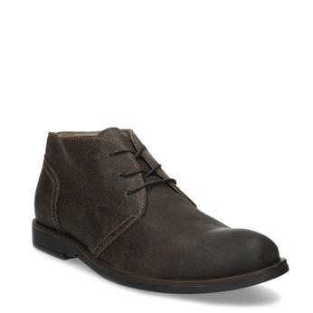 Hnědá pánská kožená kotníčková obuv bata, hnědá, 826-4629 - 13