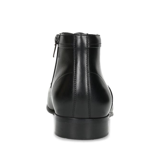Černá pánská kožená kotníčková obuv conhpol, černá, 894-6603 - 15