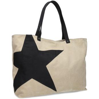 Béžová dámská kabelka s hvězdou bata, béžová, 969-2617 - 13