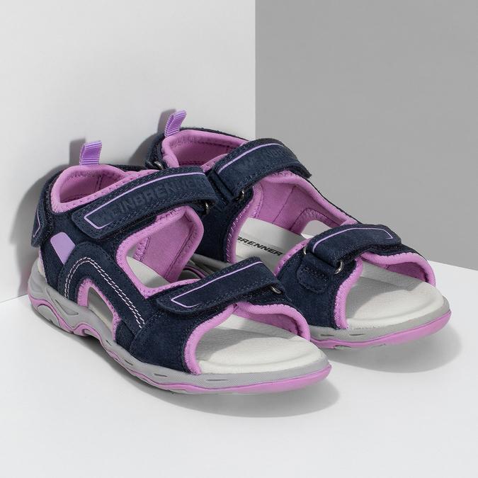 Dívčí sandály kožené weinbrenner, modrá, 463-9708 - 26