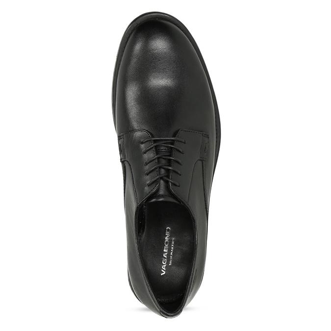 Černé dámské kožené Derby polobotky vagabond, černá, 524-6102 - 17