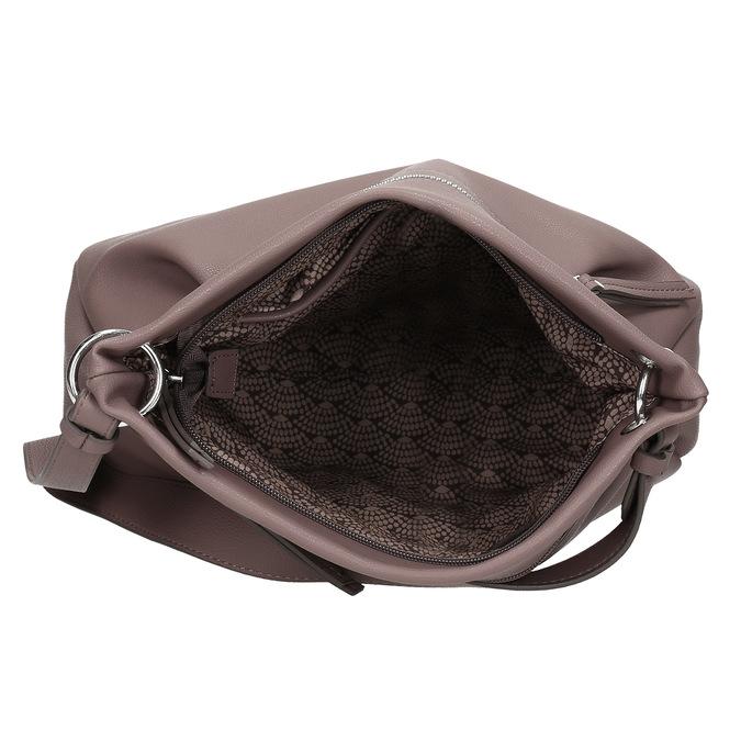 Růžová dámská kabelka s popruhem gabor, růžová, 961-5110 - 15
