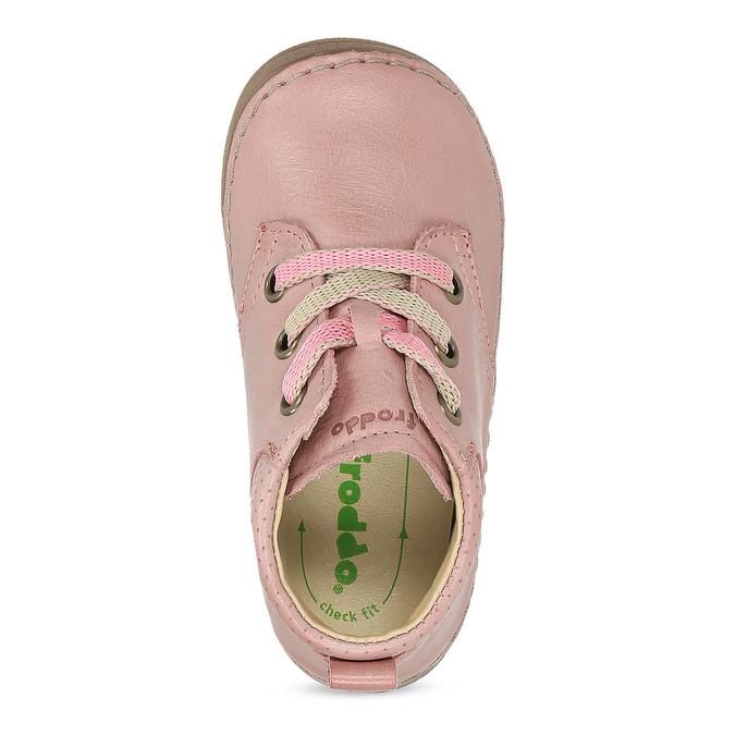 Dětská růžová kotníčková kožená obuv froddo, růžová, 124-5607 - 17