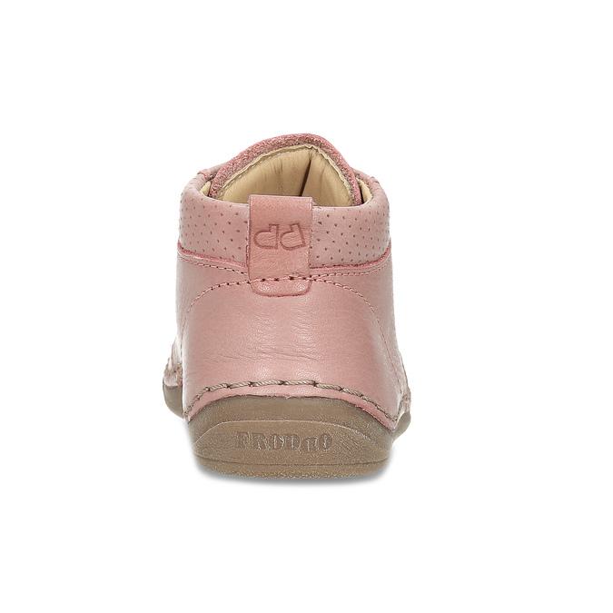 Dětská růžová kotníčková kožená obuv froddo, růžová, 124-5607 - 15