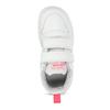 Bílé dětské tenisky s růžovými detaily adidas, bílá, 101-1291 - 17