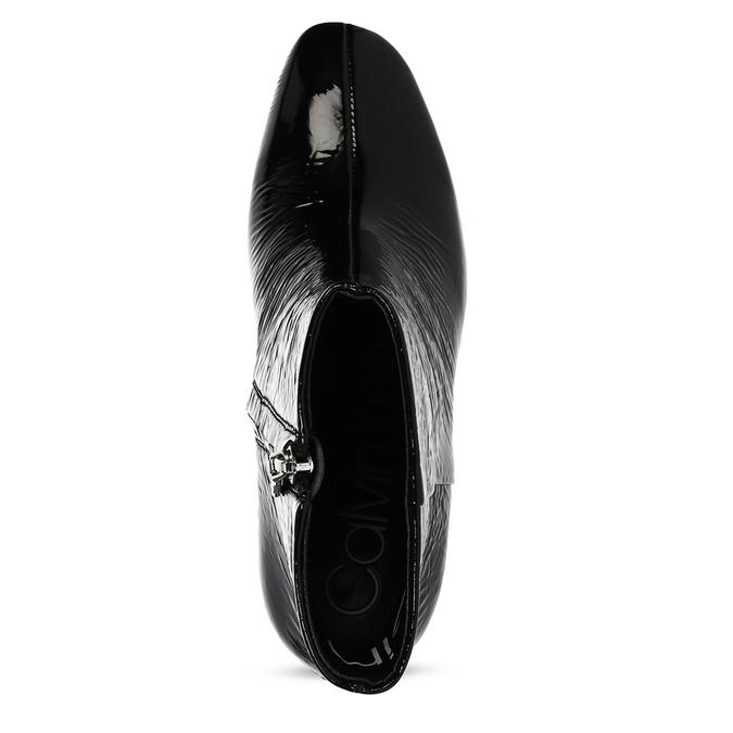 Dámské černé kotníčkové lesklé kozačky calvin-klein, černá, 798-6722 - 17