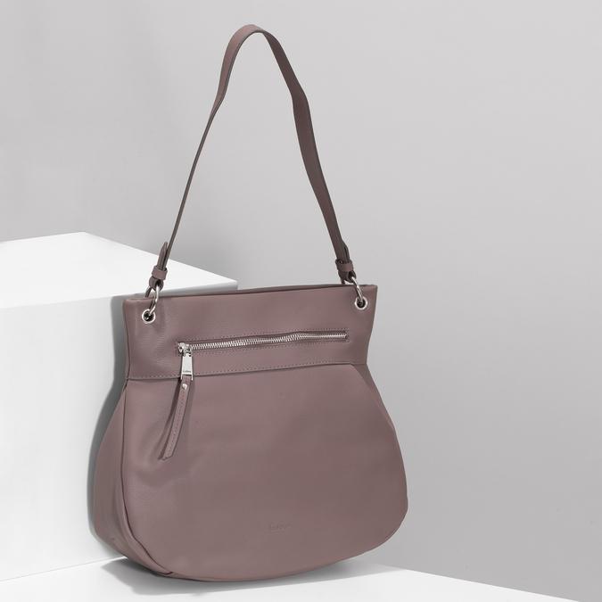 Růžová dámská kabelka s popruhem gabor, růžová, 961-5110 - 17