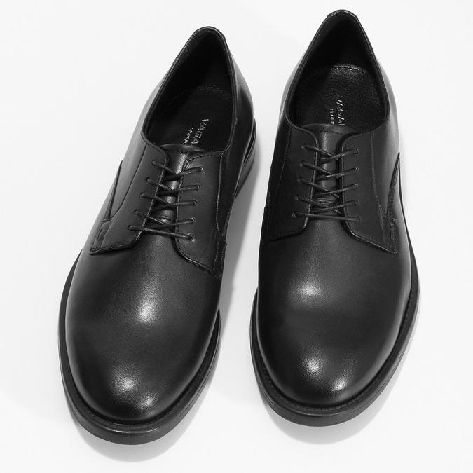Černé dámské kožené Derby polobotky vagabond, černá, 524-6102 - 16