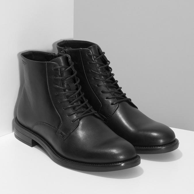 Černá kožená dámská kotníčková obuv vagabond, černá, 524-6106 - 26