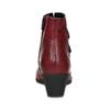 Červené kožené dámské kozačky s knoflíky gabor, červená, 696-5101 - 15
