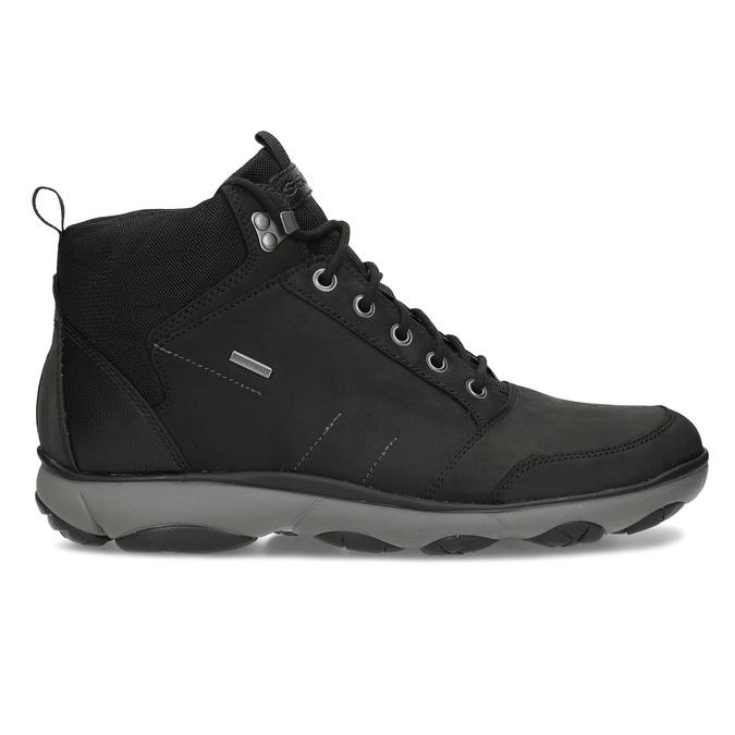 Kotníčková pánská kožená obuv v Outdoor stylu geox, černá, 846-6368 - 19