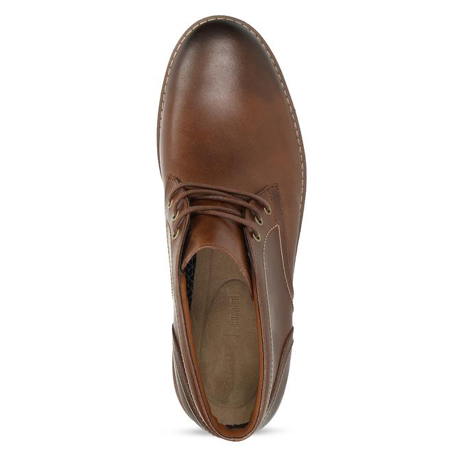 Pánská kožená hnědá kotníčková obuv clarks, hnědá, 846-4830 - 17
