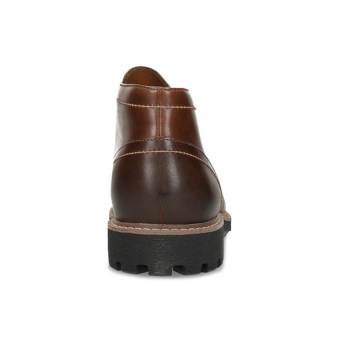 Pánská kožená hnědá kotníčková obuv clarks, hnědá, 846-4830 - 15