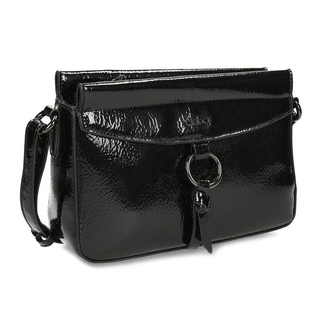 Dámská černá Crossbody kabelka gabor, černá, 961-6231 - 13