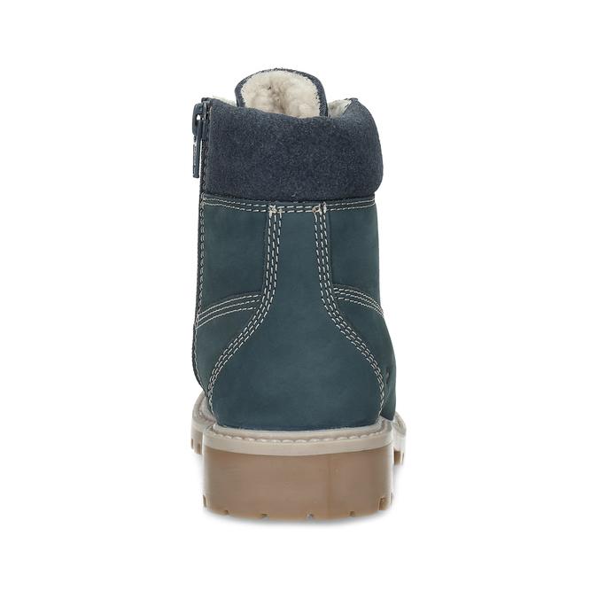 Dětské modré kožené Worker Boots weinbrenner, modrá, 296-9604 - 15