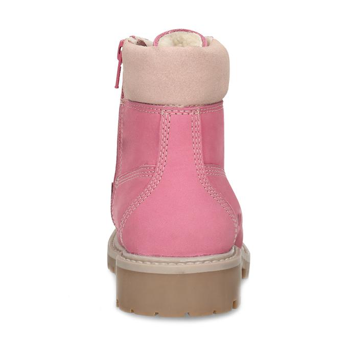 Dětské růžové kožené Worker Boots weinbrenner, růžová, 296-5604 - 15
