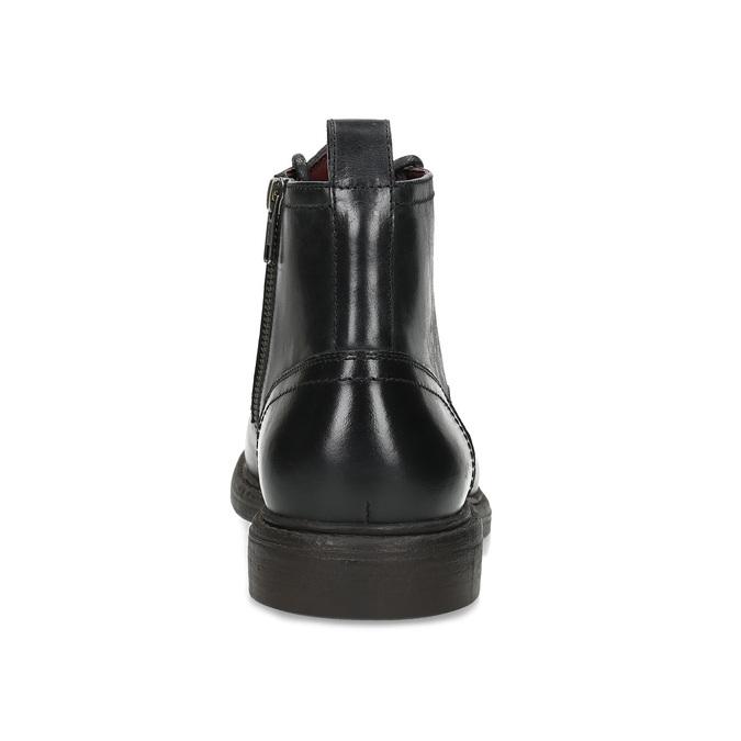 Pánská černá kožená kotníčková obuv bata, černá, 824-6612 - 15