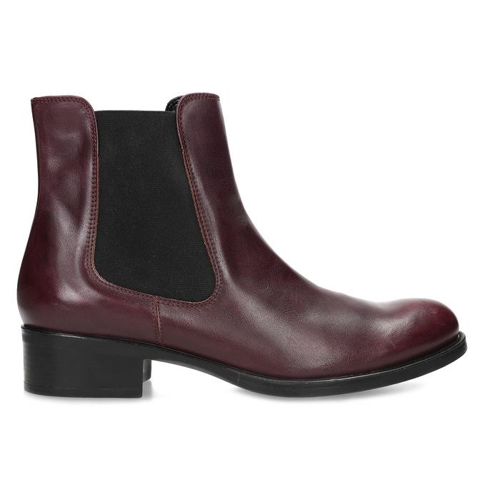Dámská vínová kožená Chelsea obuv bata, červená, 594-5448 - 19