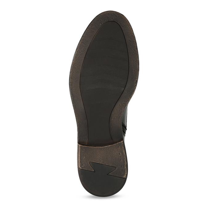 Pánská černá kožená kotníčková obuv bata, černá, 824-6612 - 18