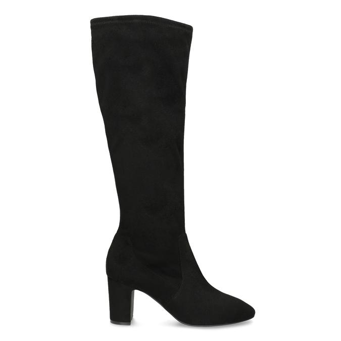Černé kozačky na stabilním podpatku bata, černá, 699-6606 - 19