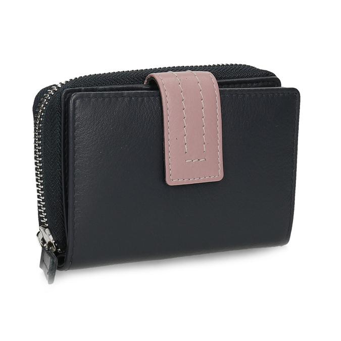 Tmavě modrá dámská kožená peněženka bata, modrá, 944-9623 - 13