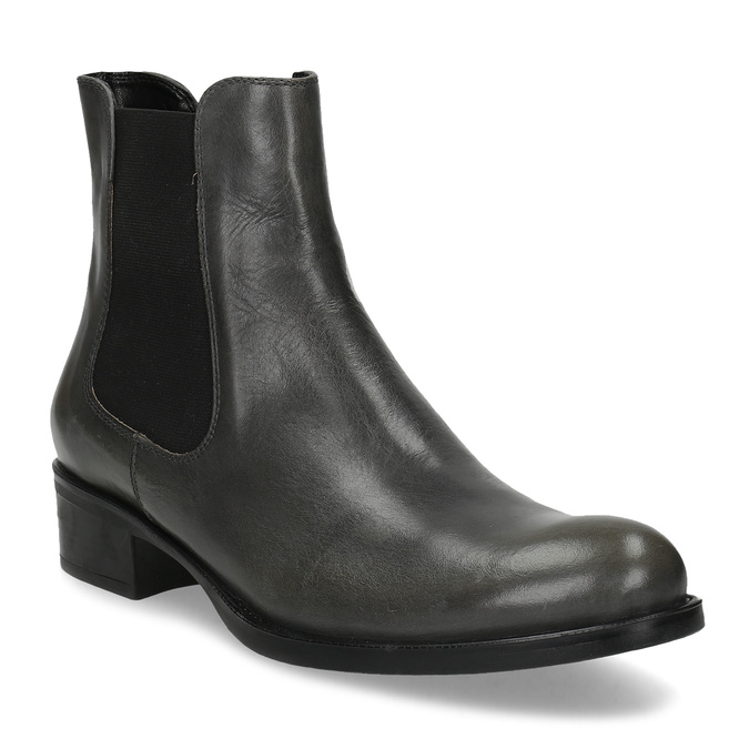 Šedá dámská kožená Chelsea obuv bata, šedá, 594-3448 - 13