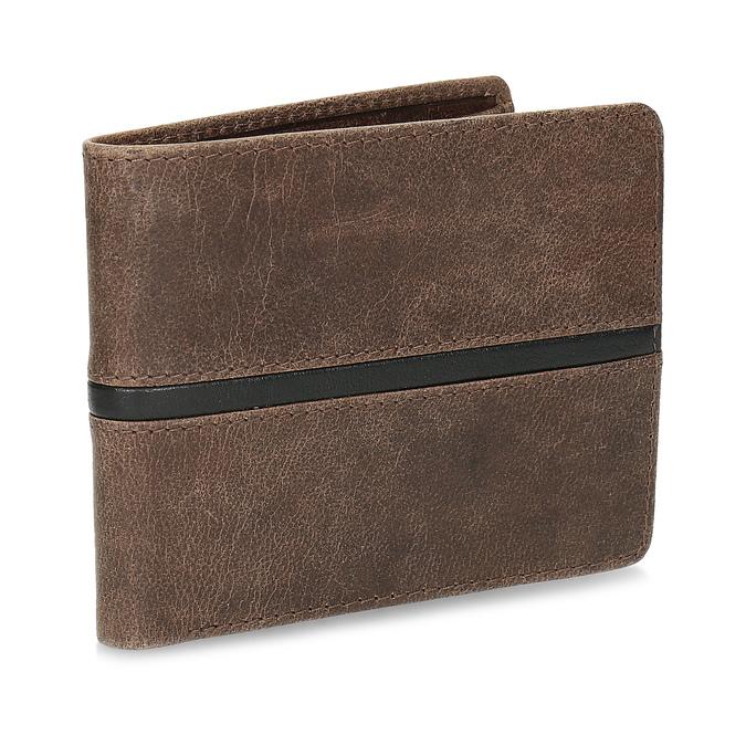 Hnědá pánská kožená peněženka bata, hnědá, 944-4627 - 13