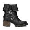 Černé dámské kozačky s přezkami bata, černá, 691-6607 - 19