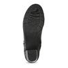 Černé kožené kozačky na stabilním podpatku bata, černá, 694-6606 - 18
