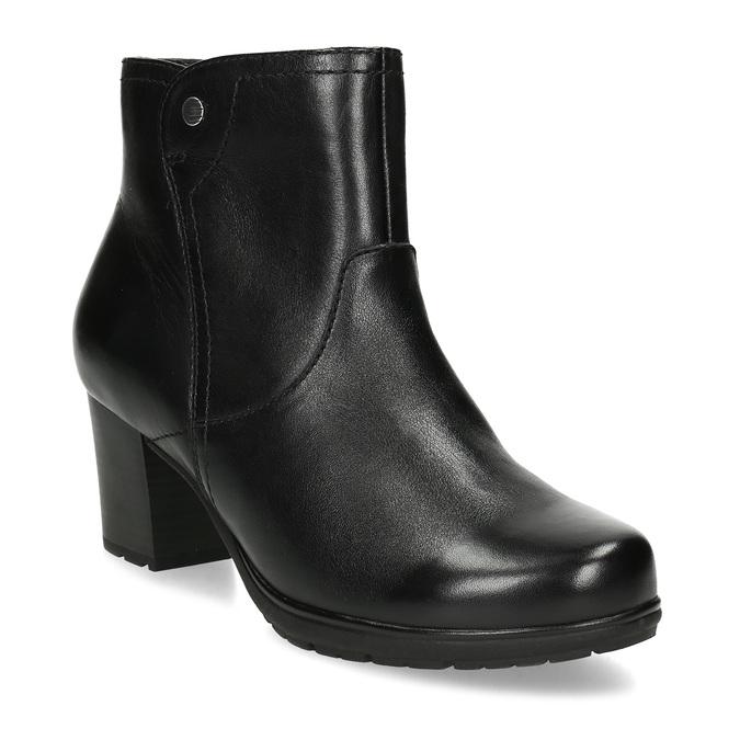 Černé kožené kotníčkové kozačky bata, černá, 694-6604 - 13