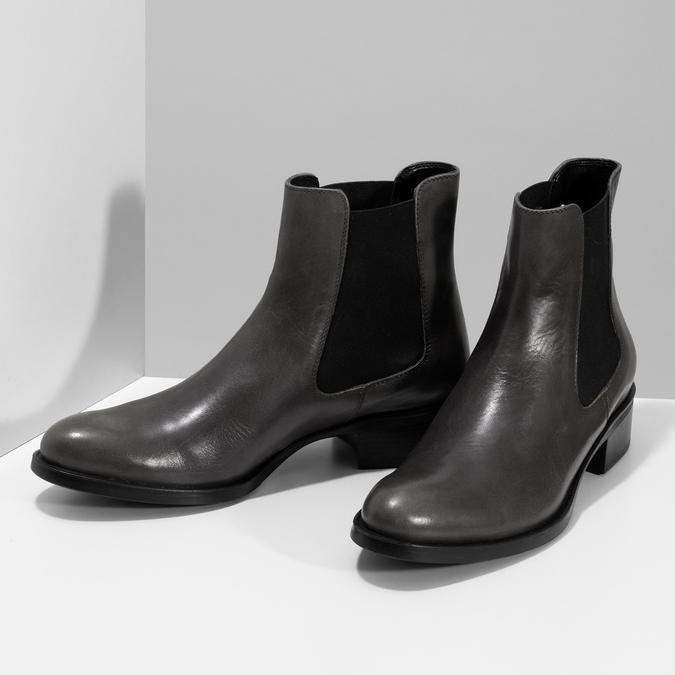 Šedá dámská kožená Chelsea obuv bata, šedá, 594-3448 - 16