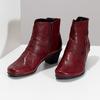 Červené kožené dámské kozačky s knoflíky gabor, červená, 696-5101 - 16