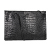 Černé kožené dámské psaníčko se strukturou vagabond, černá, 966-6020 - 16