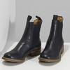 Tmavě modrá kožená dámská Chelsea obuv ten-points, modrá, 596-9557 - 16