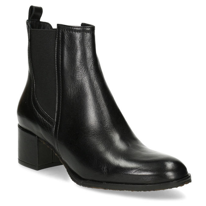 Dámská černá kožená Chelsea obuv bata, černá, 694-6624 - 13