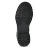 Dětské černá kožená kotníčková obuv s prošitím mini-b, černá, 396-6605 - 18