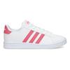 Bílé dětské tenisky s růžovými detaily adidas, bílá, 401-1447 - 19
