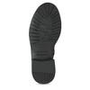 Dětské černé kožené kozačky na zip richter, černá, 396-6611 - 18