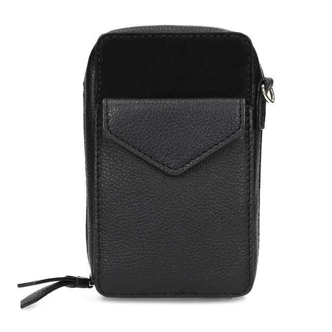 Kožená černá Crossbody kabelka bata, černá, 964-6626 - 26