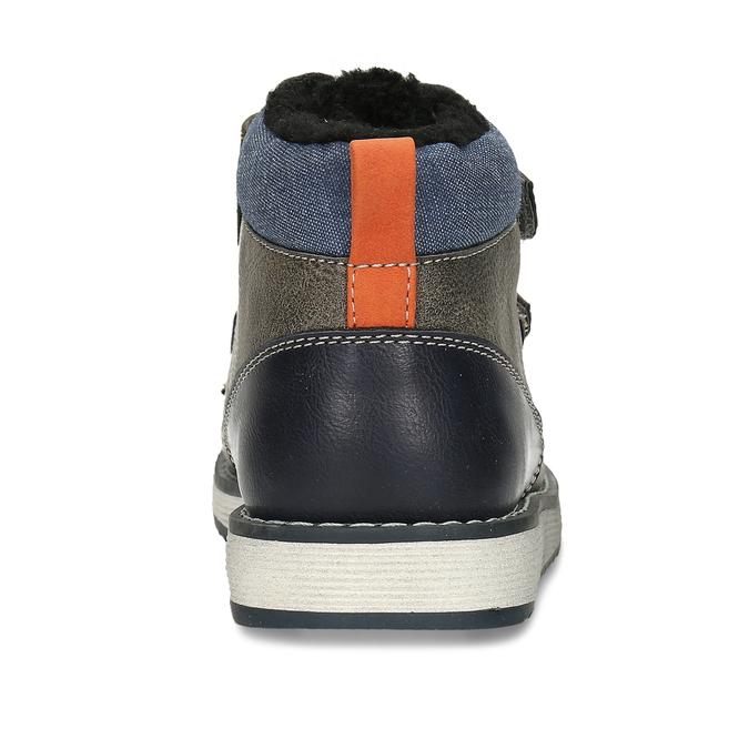 Hnědá kotníková chlapecká zimní obuv mini-b, šedá, 291-4631 - 15