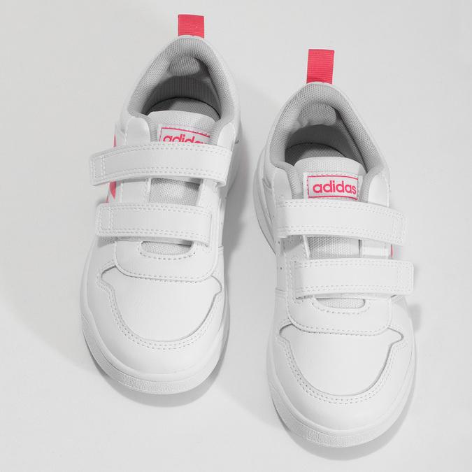 Bílé dětské tenisky na suché zipy adidas, bílá, 301-1270 - 16